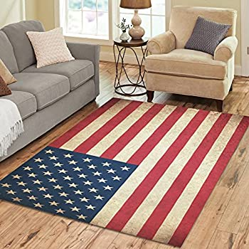 americana style patriotic rug stars stripes theme throw rug accent mat. Black Bedroom Furniture Sets. Home Design Ideas