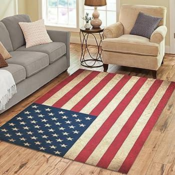 Amazon Com Quot Americana Style Quot Patriotic Rug Stars