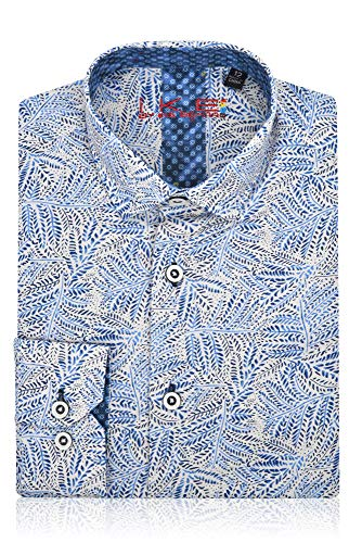 (Ike Behar Boys Fancy Shirt Navy Blue,Royal Blue)
