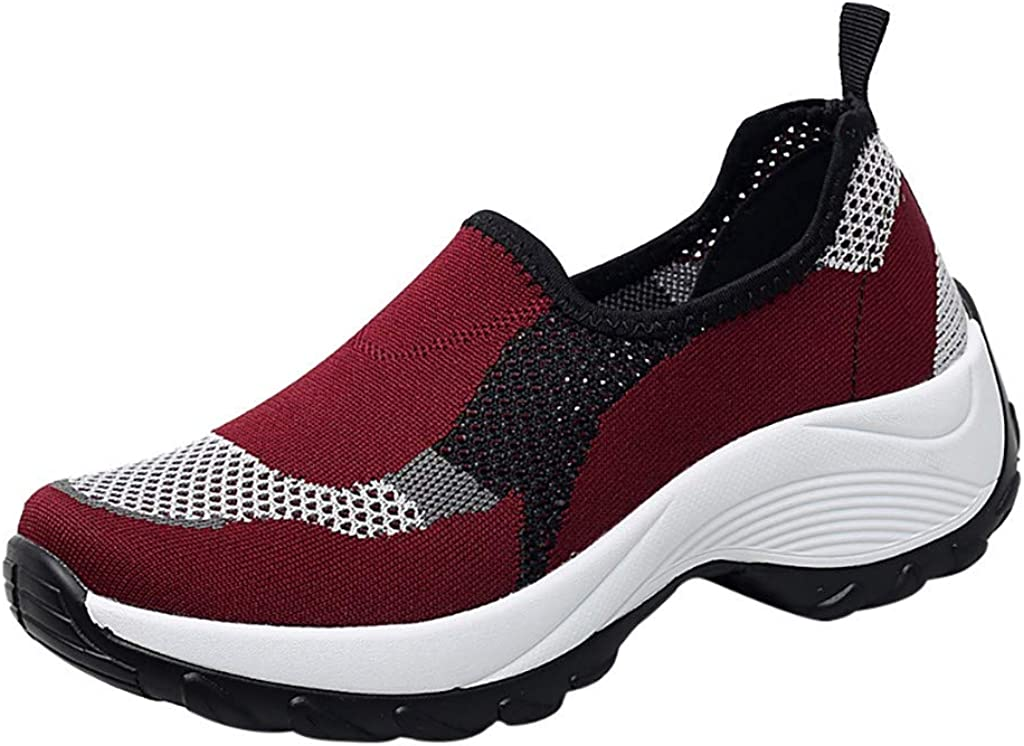 HENWERD Mesh Jazz Shoes Womens Modern Split-Sole Dance Sneakers for Ballroom Breathable