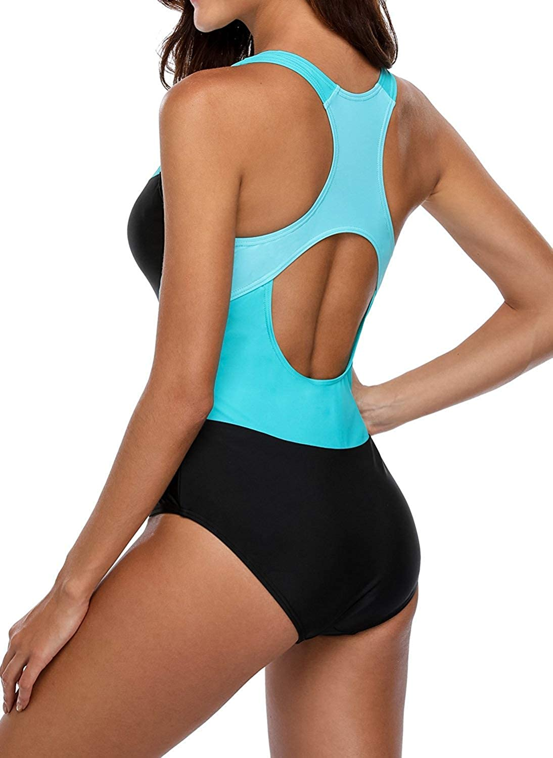 sands coast Womens One Piece Swimsuits Sports Racerback Bathing Suit Racing Training Athletic Swimwear for Teens