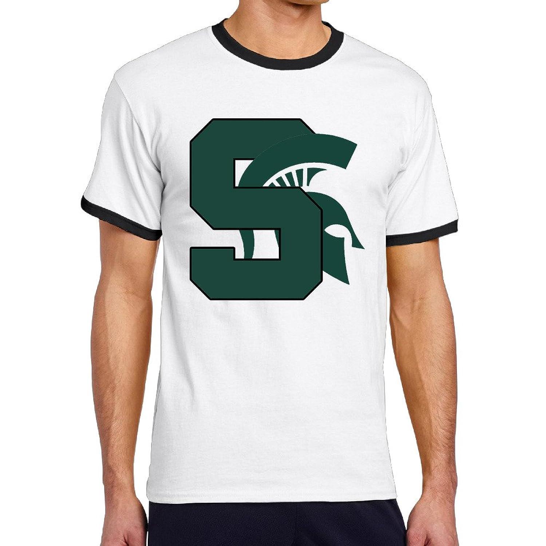 WG Men's Two-toned Tshirt-Fashion Michigan State University MSU Spartans Black