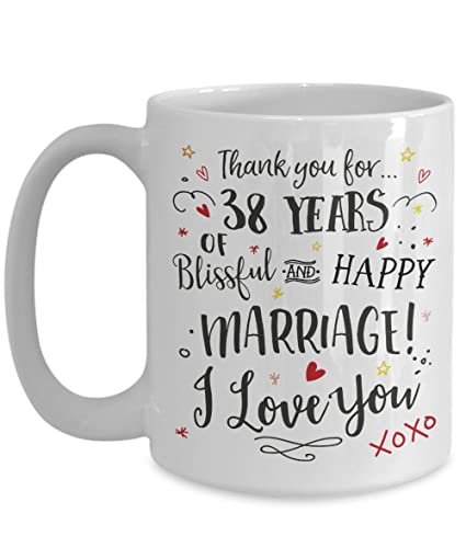 Image Unavailable. Image not available for. Color: 38th Wedding Anniversary Gift ...