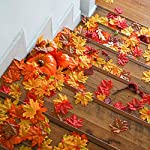 GiBot-400-Pcs-Artificial-Maple-Leaves-4-Colors-Fake-Fall-Leaves-Silk-Autumn-Leaves