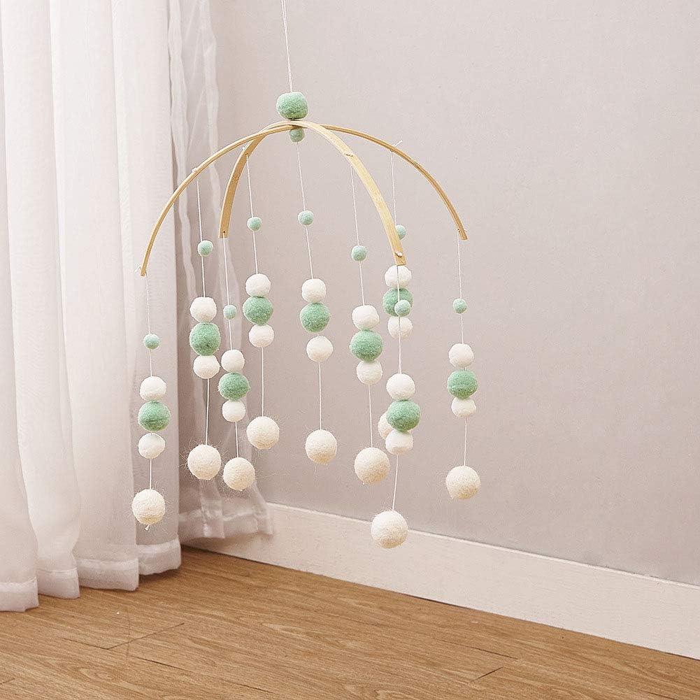 Windspiele Filz Ball Kinderzimmer Mobile Ornament Anh/änger H/ängende Decke Geschenk Foto F/örderung Wohnkultur Handwerk Nette Kindergarten Pink