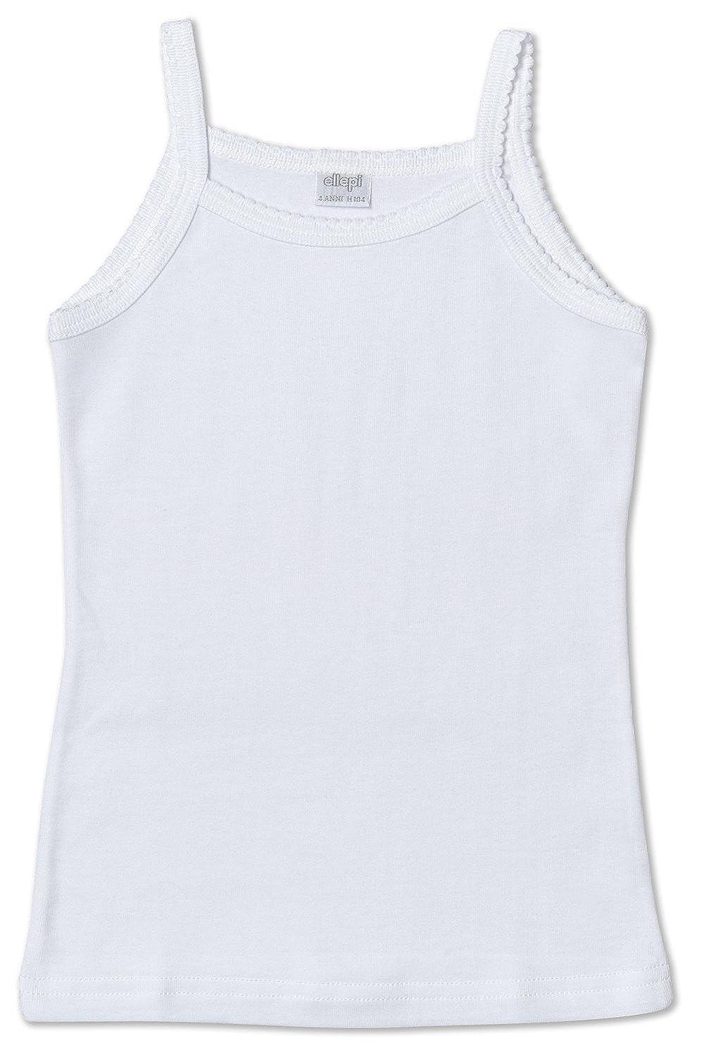 Ellepi AI8228NR Canotta spalla stretta cotone, Bianco