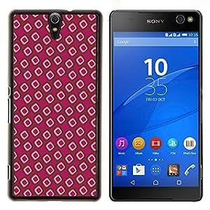 """Be-Star Único Patrón Plástico Duro Fundas Cover Cubre Hard Case Cover Para Xperia C5 E5553 E5506 / C5 Ultra ( Papel pintado Random Pink Dots"""" )"""