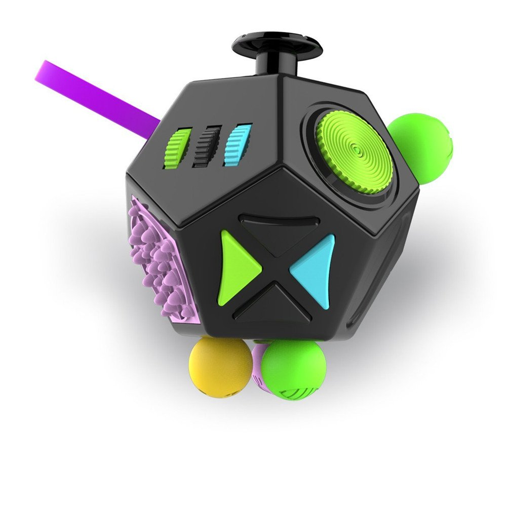 A1 Esoes Fidget Toy 12-Side Fidget Cube Relieves Stress and Anxiety Anti depression cube for Adults Kids Boys Girls with ADHD ADD OCD Autism