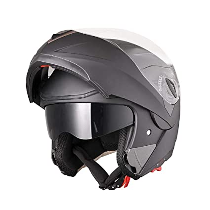8db29bfb Image Unavailable. Image not available for. Color: AHR Full Face Flip up  Modular Motorcycle Helmet DOT Approved ...