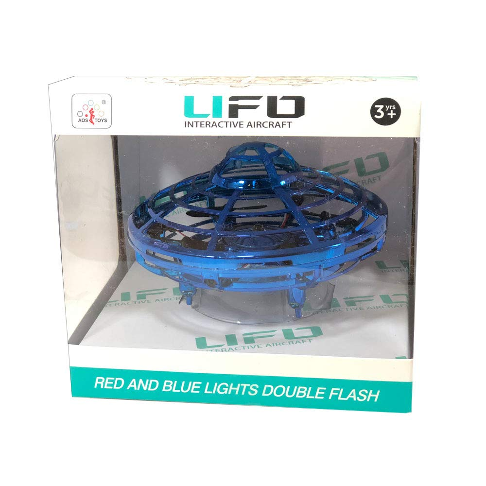 AOS UFO Flying Ball Toys,Hand-Controlled Suspension Helicopter Toy, Infrared Induction Interactive Drone Indoor Flyer Toys with 360° Rotating and LED Lights for Kids, Teenagers Boys Girls by AOS (Image #4)
