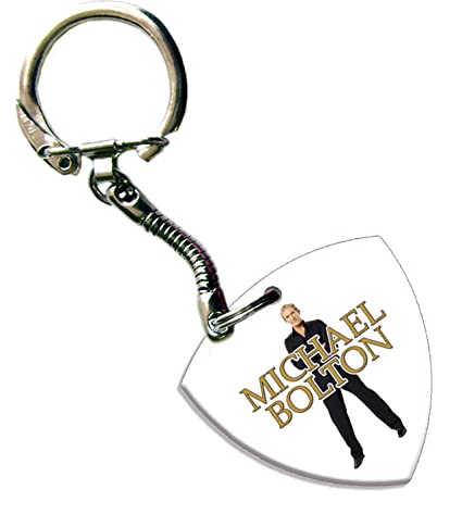 Amazon.com: Michael Bolton Bass Pick Keyring Llavero banda ...