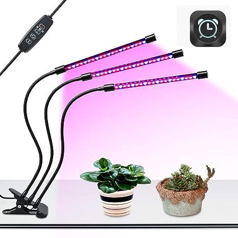 SEMOON USB Lamparas para Plantas luces Planta LED 27W Rojo Azul 360° Giratorio 8 Brillo