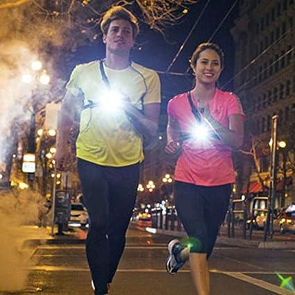 夜跑灯,USB可充电LED胸灯防水跑步手电筒,用于跑步者,户外运动,散步,钓鱼,露营,远足,爬山:Amazon.in:运动,健身和户外