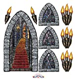 window display props - Stairway, Window & Torch Props Party Accessory [9 Units Per Pack] (3 Packs)