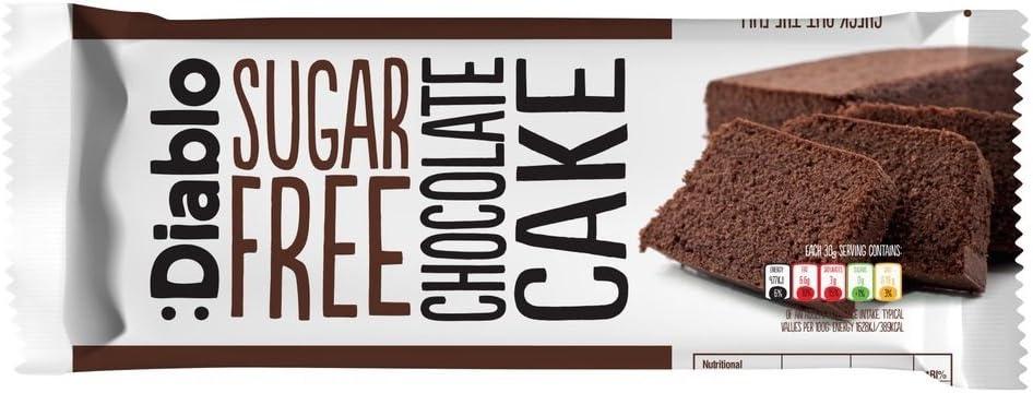 Bizcocho de chocolate sin azúcar : Diablo 200 g: Amazon.es: Alimentación y bebidas