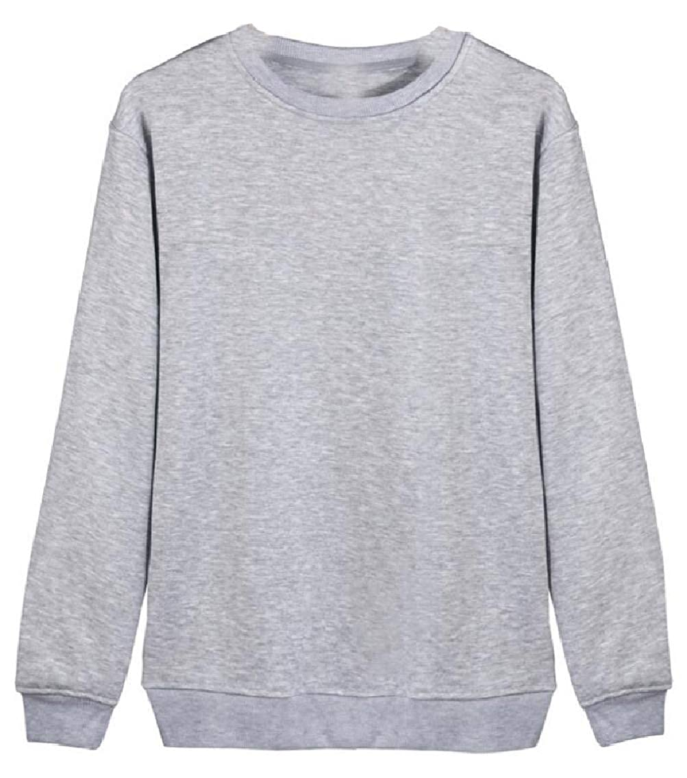 Yayu Mens Long Sleeve Solid Classic O Neck Pullover Sweater
