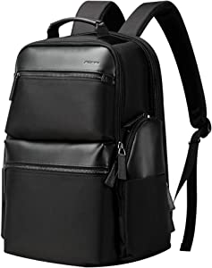 BOPAI 34L Business Travel Backpack Anti Theft Bag Pack with USB Charging 15.6 inch Laptop Backpack for Men Waterproof Rucksack Black