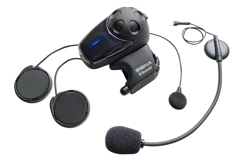 Sena SMH10-11 Motorcycle Bluetooth Headset / Intercom with Universal Microphone Kit (Single) by Sena
