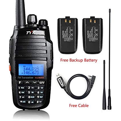 TYT TH-UV8000D High Power 10-Watt Dual Band 2M/70CM Two Way Radio  Cross-Band Repeater Amateur Hand held Transceiver HAM, with USB Programming  Cable