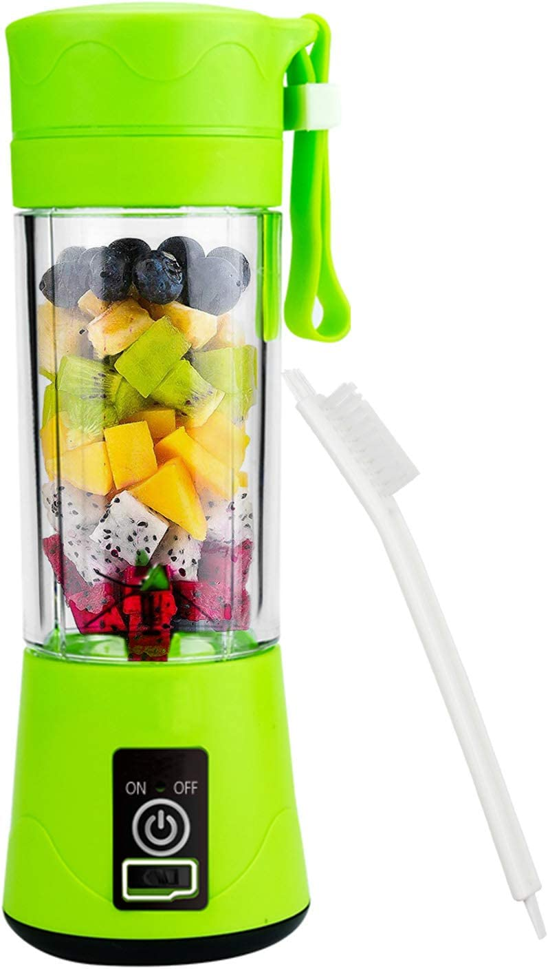 Portable Blender Mixer Juicer Machines-Six SUS304 Blade, 13oz Handheld Mini Extractor, 2000mAh USB Rechargeable Battery, Detachable Cup, Perfect for Home Travel Use (FDA, BPA Free)