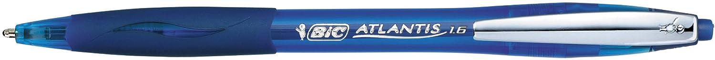 Bic Atlantis Lot de 12 stylos bille /à pointe large Bleu 1,6 mm