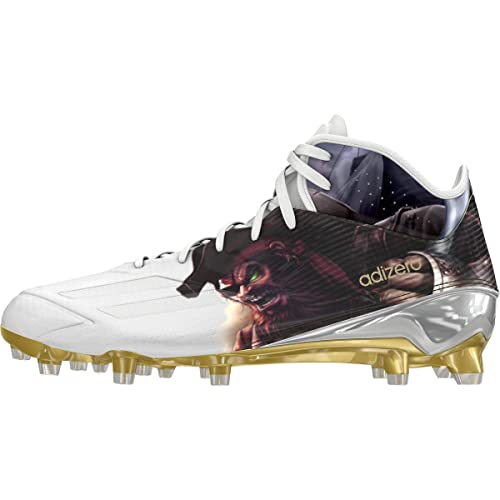 reputable site 345ea af88c adidas Adizero 5Star 5.0 Mid Uncaged Mens Football Cleat 9.5  Pirate-White-Gold Metallic