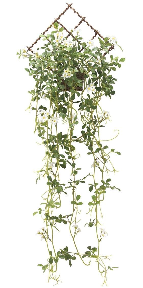 観葉植物 造花 「壁掛ジャスミン 85cm」 光触媒(空気清浄) 壁掛グリーン ガーランドリース B06XQVFQYZ