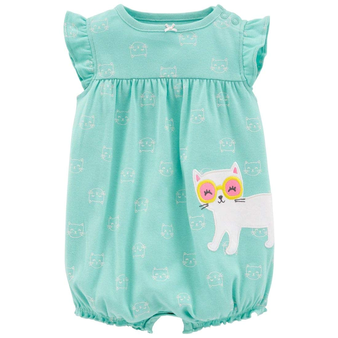 Carters Baby Girls One Piece Cat Romper