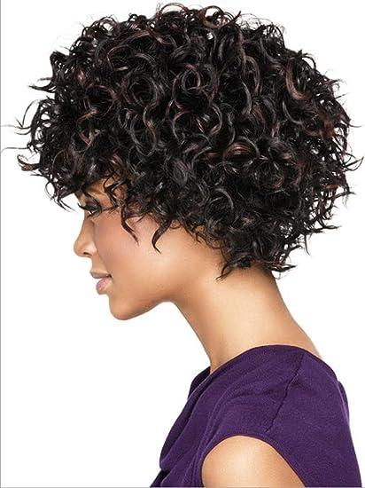 Meylee Pelucas Peluca Rizada Corta Afro Para Peinados De Las Mujeres