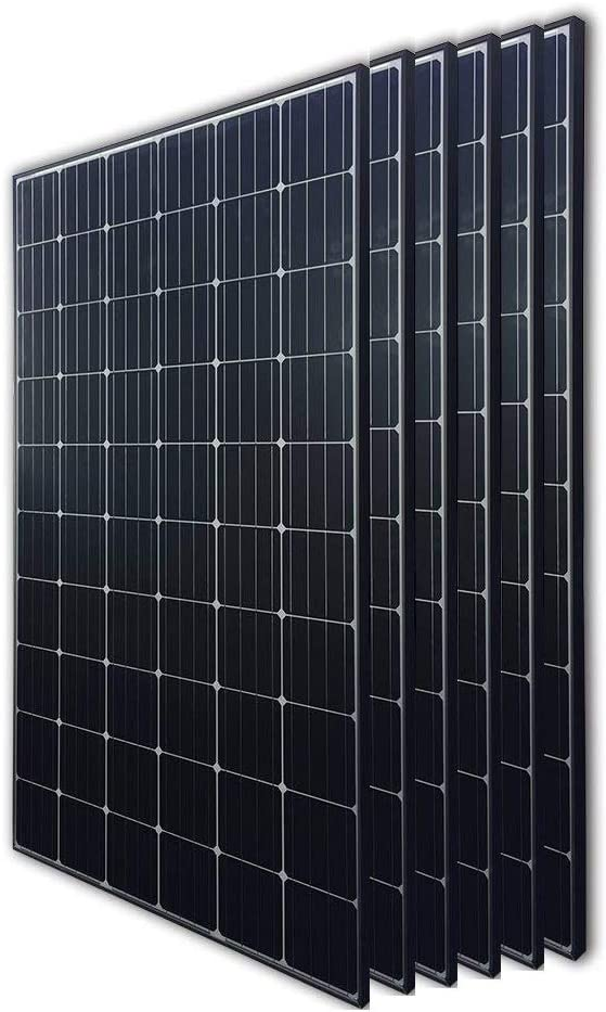 Renogy 6Pcs 300 Watt 24 Volt Monocrystalline Solar Panel 1800W for Off-Grid On-Grid Large Solar System, Residential Commercial House Cabin Sheds Rooftop, Multi-Panel Solar Arrays