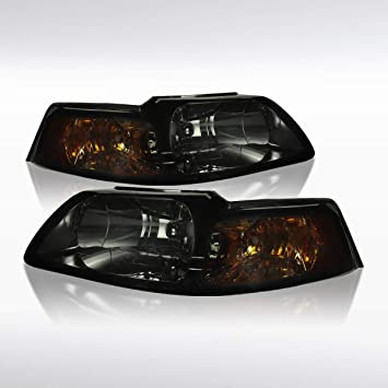Autozensation For Ford Mustang Euro Tinted Crystal Headlights Amber Reflector
