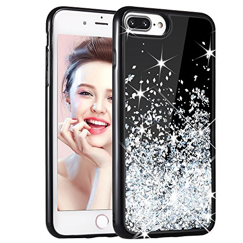 iPhone 8 Plus Case,iPhone 7 Plus Case, Ruky [Sparkling Series] TPU Bumper Protective Luxury Glitter Flowing Liquid Floating Sparkle Bling Case for Apple iPhone 8 Plus & 7 5.5