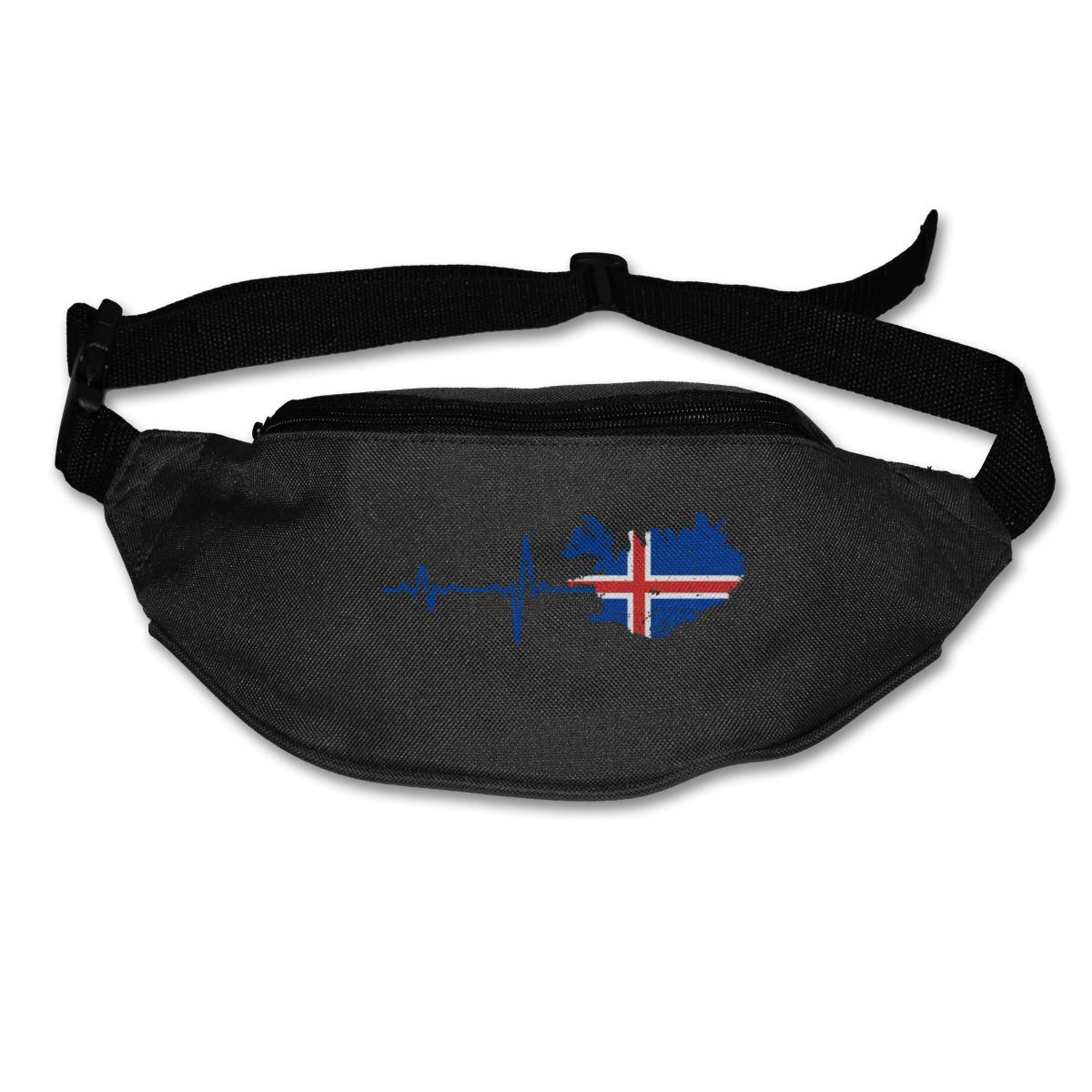 Heartbeat I Love Iceland 1 Sport Waist Pack Fanny Pack Adjustable For Run