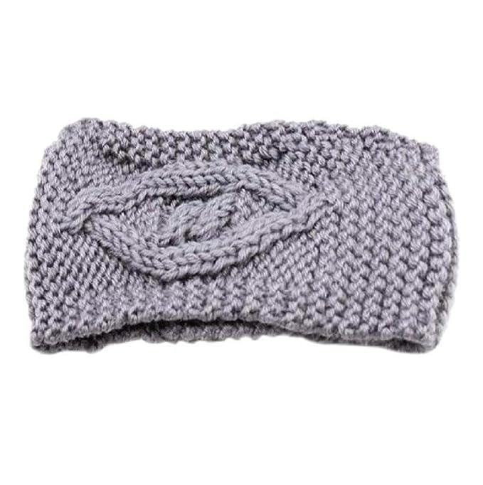 Sannysis® Invierno de la Mujer sombrero caliente; Esquí de punto diadema (Gris): Amazon.es: Deportes y aire libre