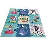 Babify Alfombra Puzzle para bebés Toy Planet - Espesor 2 cm, Antideslizante, Extragrande, Reversible, Impermeable…