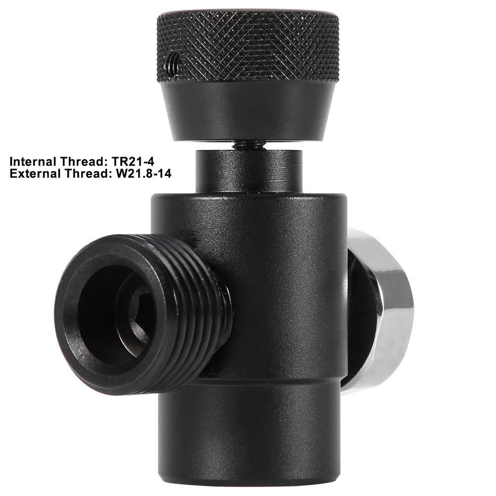 #1: Black Adapter with Meter Jeffergarden Kit di connettori per Adattatore di Ricarica bombola Serbatoio di riempimento CO2 SodaStream
