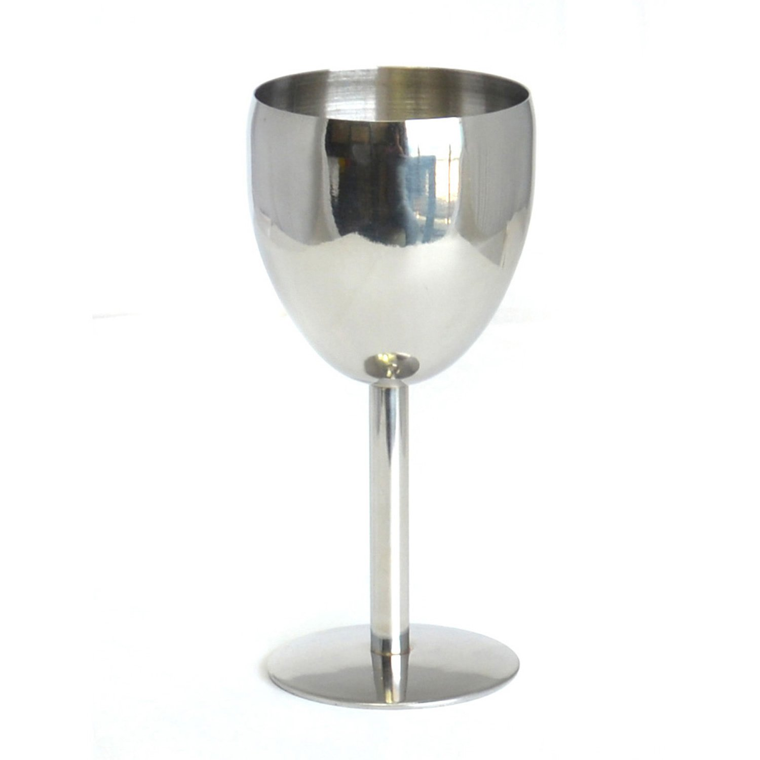 HUPPYNUTS GOBLETS & CHALICES Stainless Steel Wine Glasses, Coupe Champagne Wine Goblet, 6 Ounces GIVESURPRISE UK LTD