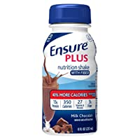 Ensure Plus Nutrition Shake with Fiber, with 13 grams of high-quality protein, Meal...