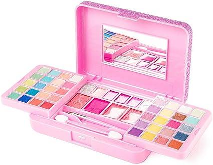 Claires - Juego de maquillaje para niña con purpurina, color rosa: Claires: Amazon.es: Belleza