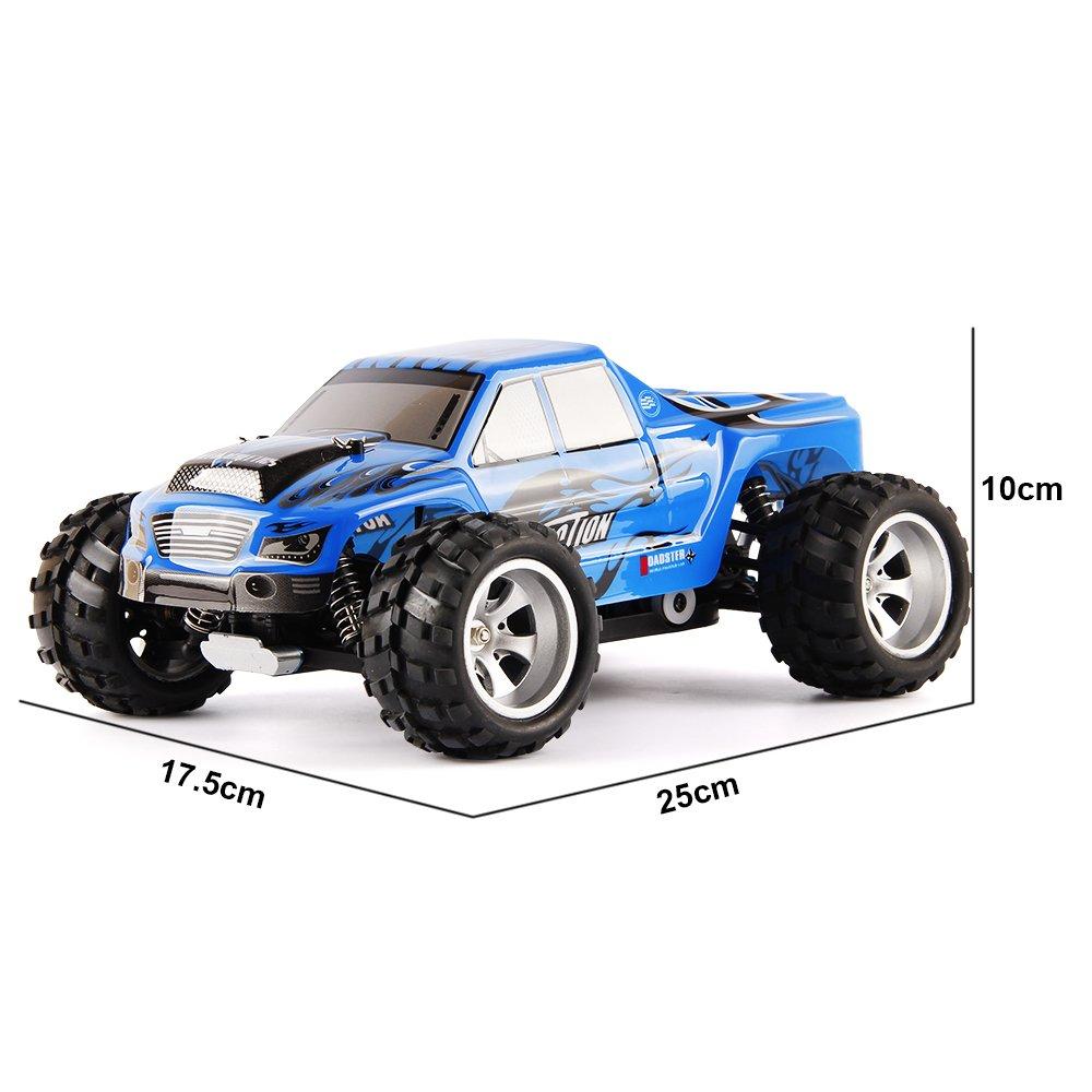 DAZHONG WLTOYS 1/18 escala eléctrico RC coche campo a través 4WD 2,4 ...