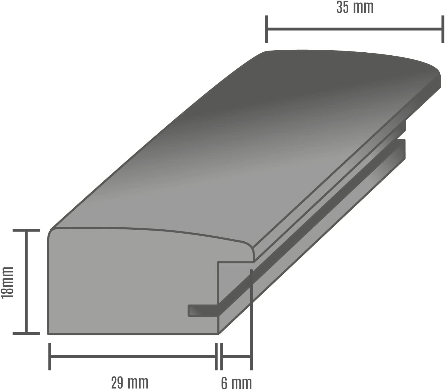 Olimp Sport Nutrition PRORSUS 35mm Cadre Photo sur Mesure pour Images 10x10cm en Couleur Silver Leaf Cadre Fait Main en MDF dot/é d/'Un Verre Synth/étique Antireflet
