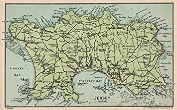 Amazon jersey vintage map plan channel islands st helier vintage map plan channel islands st helier 1950 old map gumiabroncs Choice Image