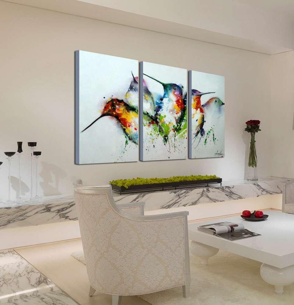 ARTLAND Modern 100 Hand Painted framed Wall
