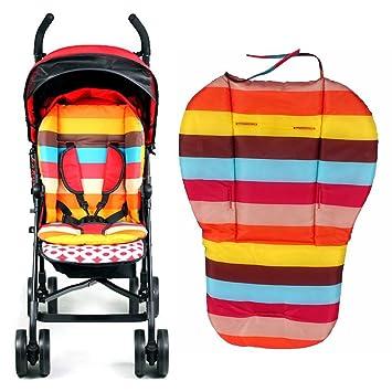 Bebé Silla de Paseo Asiento Alfombra, Arcoiris Color a Rayas ...
