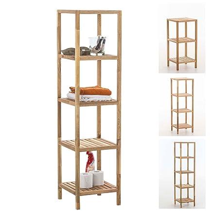 CLP Scaffale per bagno, legno color noce, scaffale per cucina Wiki ...