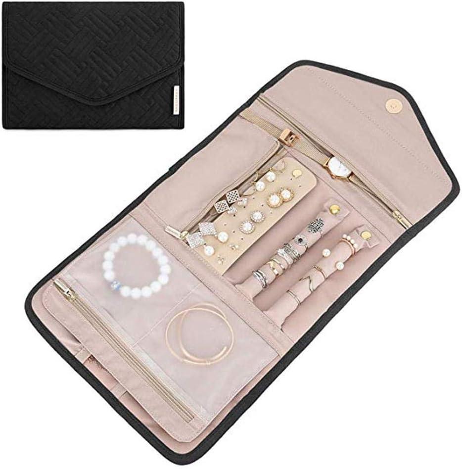 Bracelets Robust Colliers Rikey /Étui /à Bijoux Pliable pour Organisateur de Voyage Bijoux et bagues de Voyage