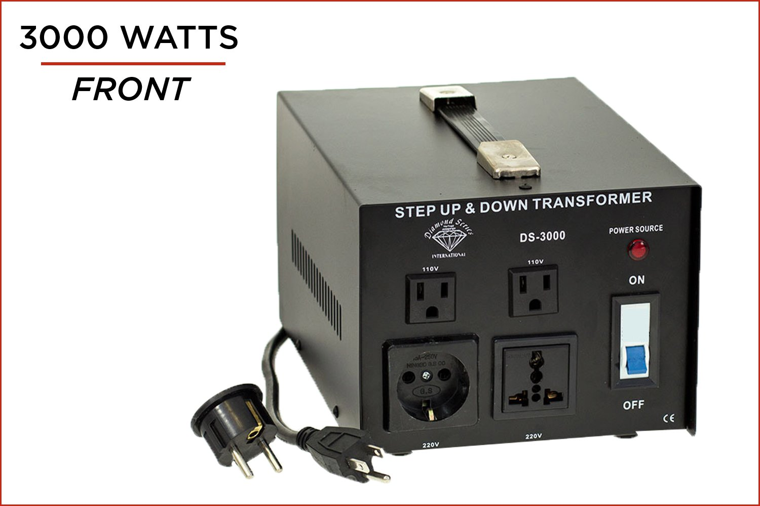 500 Watts International Diamond Series FBA/_DS-500 Dynastar Step Up /& Step Down Voltage Converter and Transformer 110-220 to 220-240 Volts; Heavy Duty 5-Year-Warranty Extra Durable Lifetime Coil