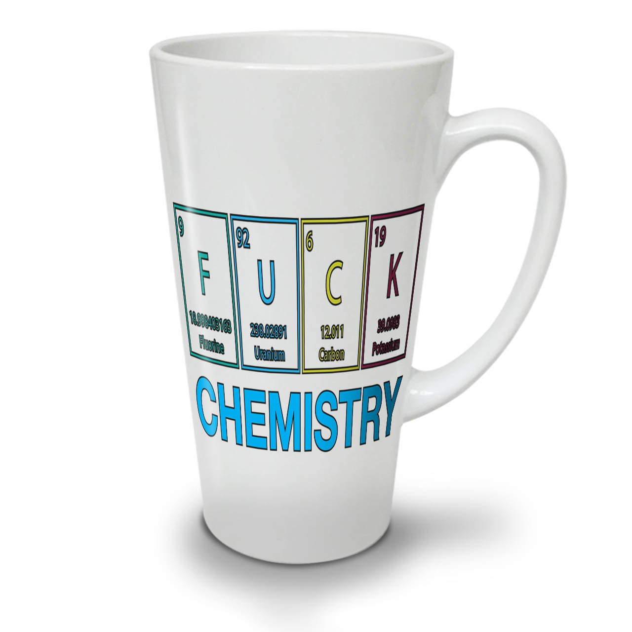 Chemistry Nerd Funny Geek Funny Quote White Ceramic Latte Mug 12 oz | Wellcoda