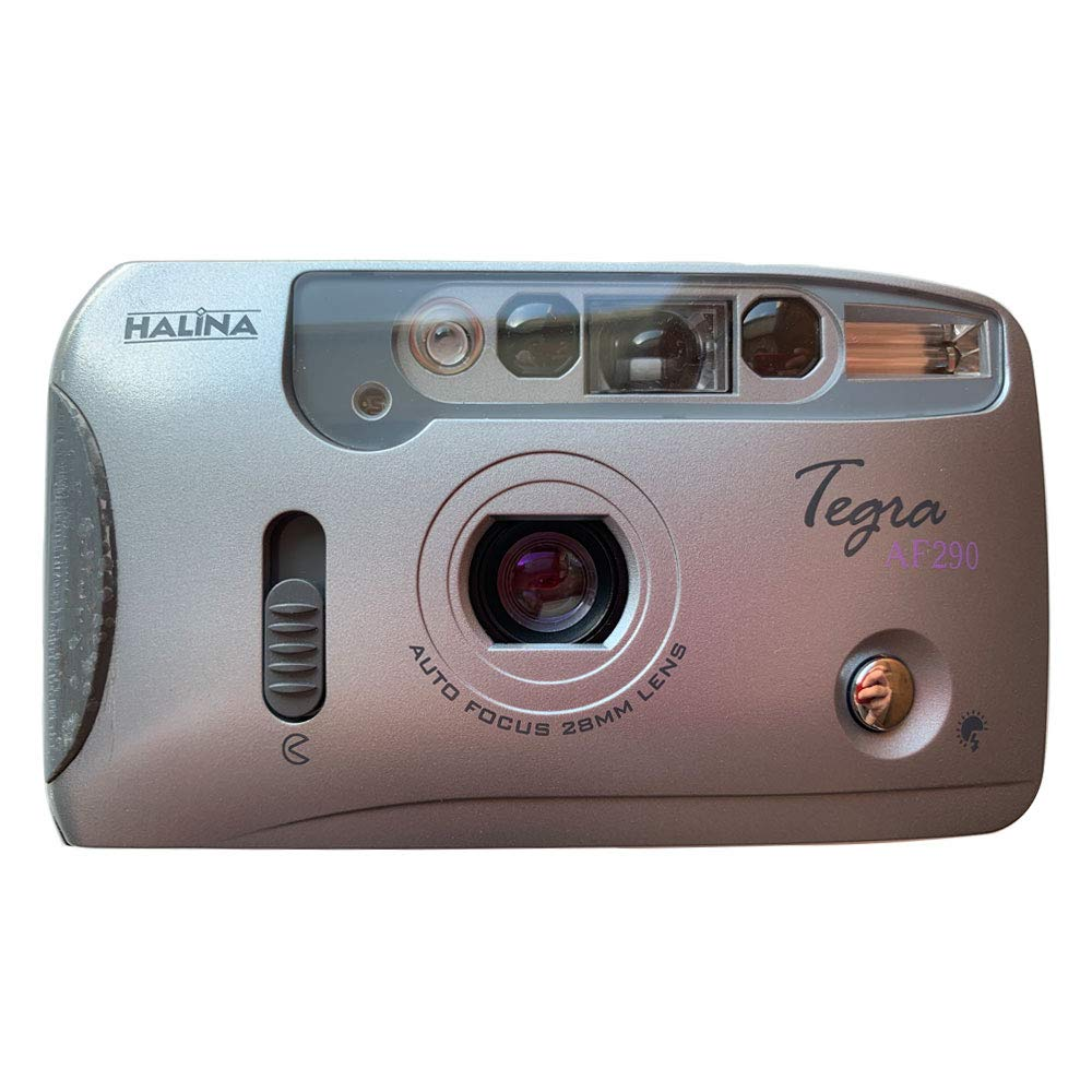 Halina Tegra AF290 35mm Film Camera Compact Point & Shoot Flash Auto Focus Motor by Halina