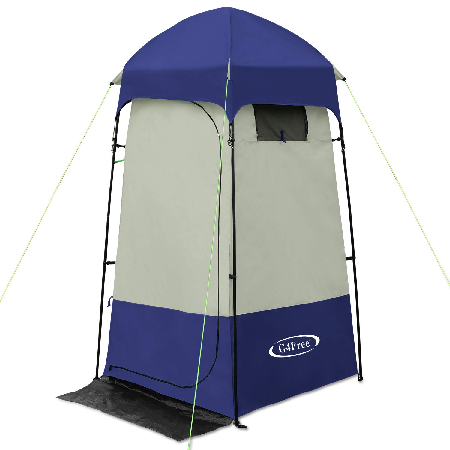 G4Free Outdoor Privacy Shelter Tent Dressing Changing Room Duluxe Shower Toilet Camping Tents (Blue)